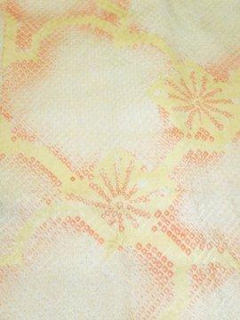 交織 羽織 ★★★★★ 【D/長丈】 (69.5/87.5/48) 梅 絞り風 【未使用品】