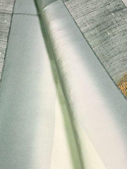 正絹 袷の付下げ訪問着 ★★★★★ 【C/M】 (66.5/160/49) 花雪輪 スワトウ刺しゅう 【未使用品】【特選】-