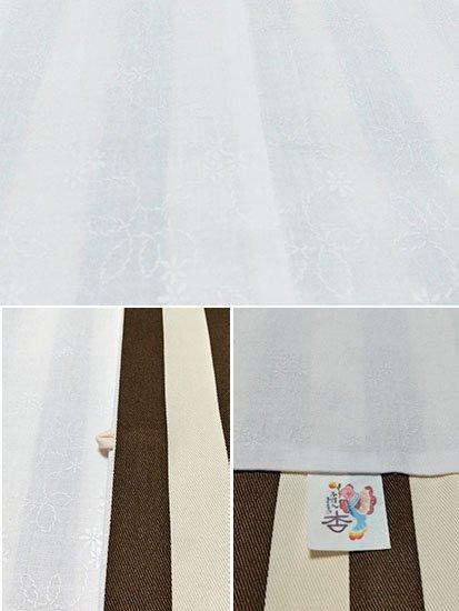 ふだんきもの杏オリジナル「杏コート」Mサイズ 【D/長丈】 (67/96/45) ストライプ-