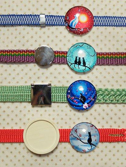 カボションガラスの帯留め用金具 選べる金具♪50円〜-