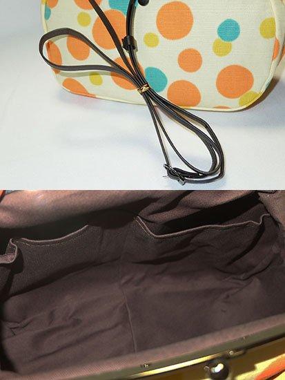 大きながま口バッグ ショルダー紐付き 【新品】-