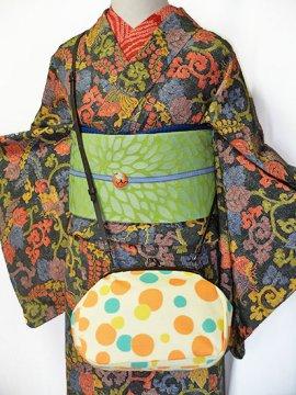 大きながま口バッグ ショルダー紐付き 【新品】