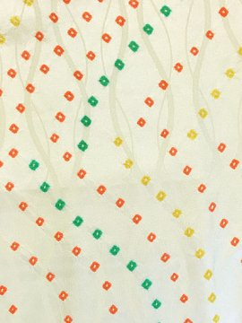 正絹 袷の小紋 ★★★ 【C/M】 (65/160/49) 絞り 立涌 中古