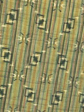 正絹 袷の紬 ★★★ 【B/R】 (63.5/153/49.5) 縞 幾何学 中古