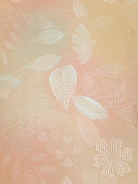 正絹 袷の小紋 ★ 【B/R】 (63.5/155/51) 植物紋 中古