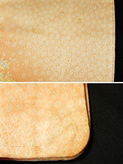 正絹 袷の小紋 ★★★ 【D/M】 (67.5/159/49) 花車 中古-