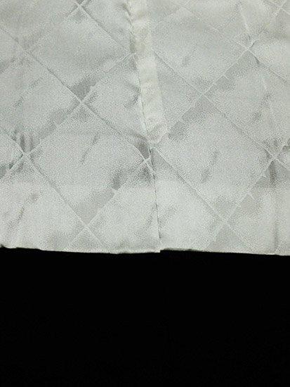 正絹 羽織 ★★★★★ 【B】 (64/79/47.5) 黒無地 山 松 一つ紋付 【未使用品】-