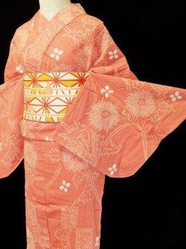 綿 新品浴衣 ★★★★★ 【D/L/W】(68/167/49) アザミ 絞り