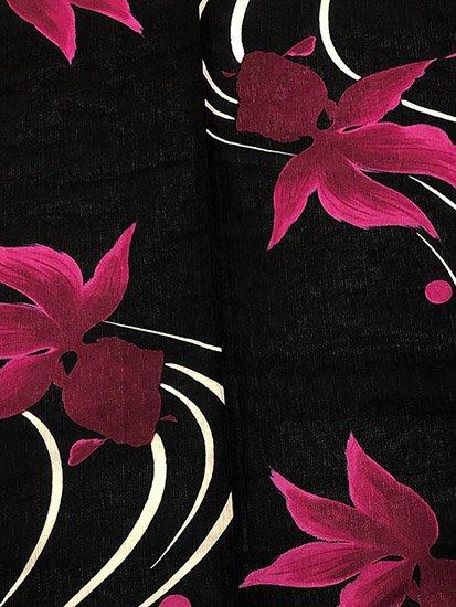 綿麻 新品の浴衣 ★★★★★ 【D/L】(68/166.5/49)流水 金魚-