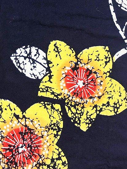 綿 中古の浴衣 ★★★ 【C/M】(65/158/47)花 注染-