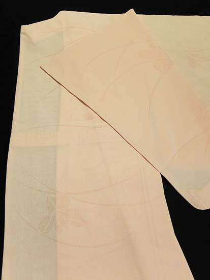 正絹 単衣の色無地 ★★★★★ 【B/S】 (63.5/148/49) 菖蒲 【未使用品】-1