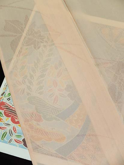 正絹 単衣の色無地 ★★★★★ 【B/S】 (63.5/148/49) 菖蒲 【未使用品】-
