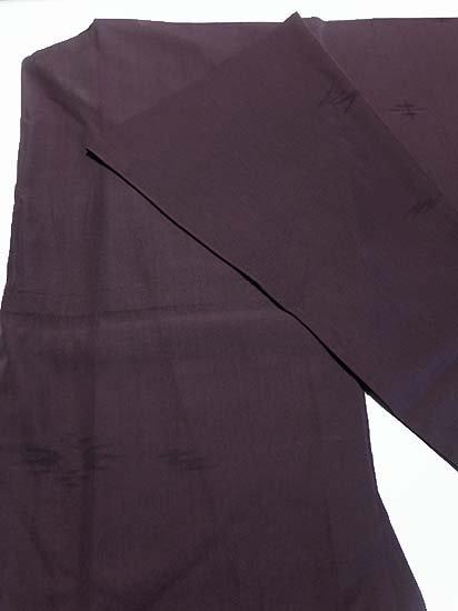 正絹 単衣の色無地 ★★★ 【D/M】 (67/162/49) 燕絣風 中古-1
