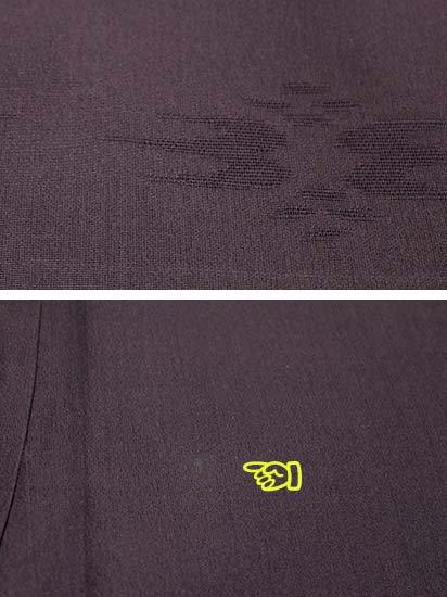 正絹 単衣の色無地 ★★★ 【D/M】 (67/162/49) 燕絣風 中古-