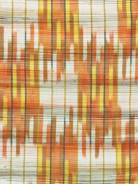 正絹 単衣の紬 ★★★ 【B/R】 (63.5/157.5/47) 変わり格子 中古