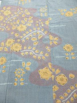 正絹 袷の付下げ訪問着 ★ 【B/M】 (64/158.5/49)  植物紋 絞り