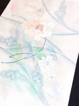 正絹 ポイント柄九寸名古屋帯 ★★★★ 【標準】 (32/365) 植物紋 中古