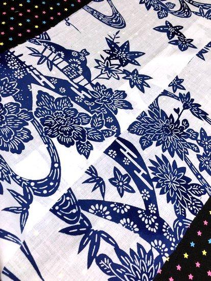 綿 ハギレの半衿 【リメイク品】 4way -1