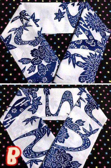 綿 ハギレの半衿 【リメイク品】 4way -