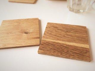 木製コースター5枚セット/オーク