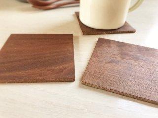 木製コースター5枚セット/ウォーナット
