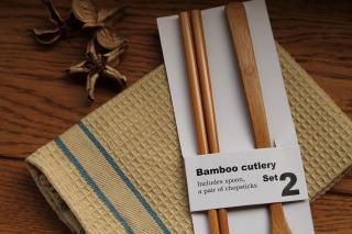 Bamboo カトラリー 箸&スプーンセット