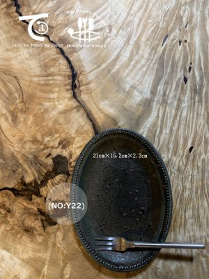 窯変いろどり21cm(NO:Y22)(21cm)Oval plate
