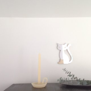 tallow candle  vanilla white