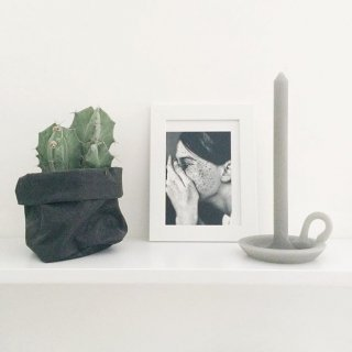 tallow candle  softgrey