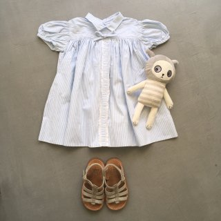 vintage lightblue stripy dress