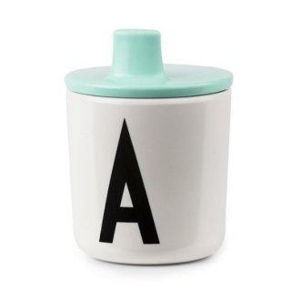 design letters melamine Drink Lid green