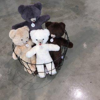 les petites maries ours toinou  bear ecru/ beige / grey / brown
