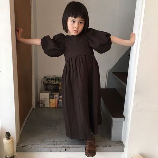 himher  pajama dress chocolate
