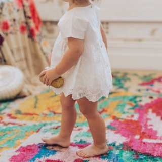 aubrie amaya babydoll dress ivory