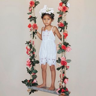 aubrie princess playsuit white