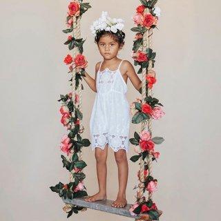 aubrie princess playsuit white