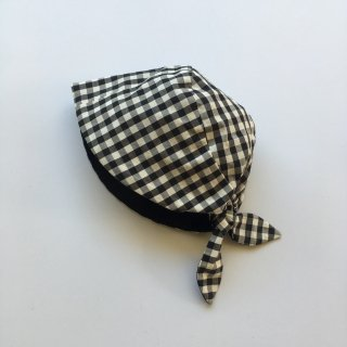 matao ribbon bonnet ginghamcheck black