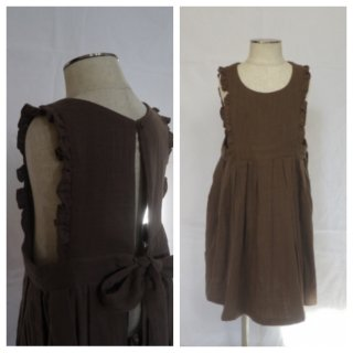 himher apron dress brown