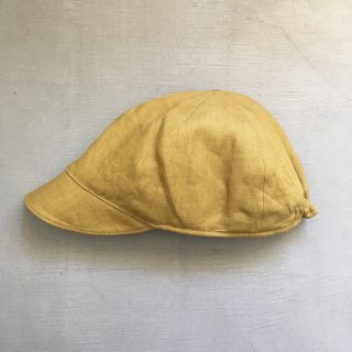matao   Linen cap mustard