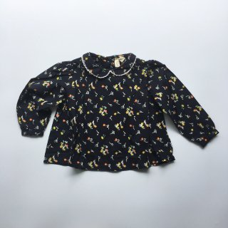 Last1! little cotton clothes wendyblouse indigo froral