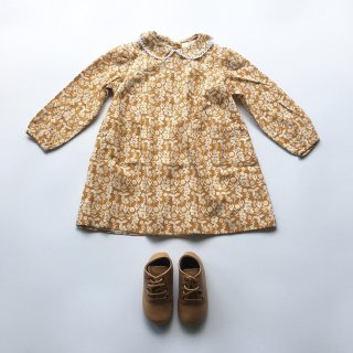 little cotton clothes coco dress mustard froral 11月入荷予定ご予約受付中