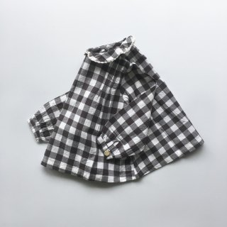 little cotton clothes wendy blouse charcoal gingham