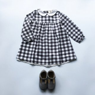 little cotton clothes penny dress charcoal gingham