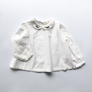 little cotton clothes wendy embroidared blouse white