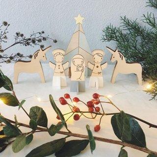 unicorn&unicorn christmas dolls