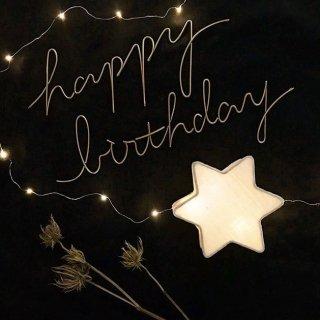 runi happy birthday objet gold