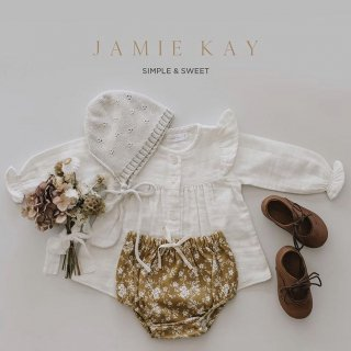 jamie kay organic cotton bloomers golden floral