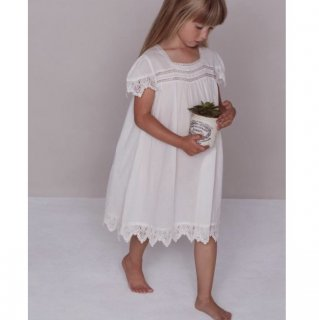 faune skylark dress old white