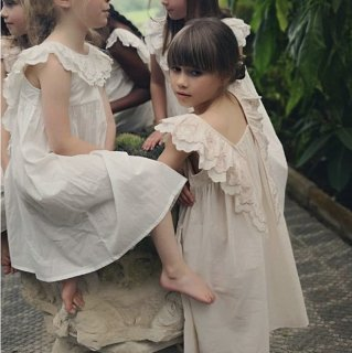 faune the wren the embroidered dress vintage natural blush 3月末入荷予定ご予約受付中