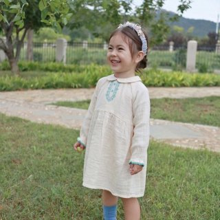 happyology pallene baby dress cream